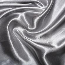 Silver Satin High Sheen Fabric 0.5m
